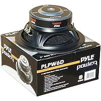 'SUB Subwoofer Pyle PLPW6D von 300Watt RMS und 600Watt max Durchmesser 6,516,50cm 165mm Tieftöner DVC Doppelschwingspule 4+ 4Ohm ausgezeichneten auch für Auto oder in Korpus Haus