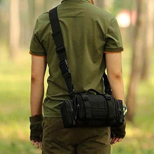 MagiDeal Sacchetto di Spalla Esterno Molle Marsupi da Escursionismo Impermeabile Borsa a Tracolla Messenger Bag - #03 #07