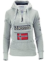Geographical Norway - Sudadera con capucha - Básico - Manga Larga - para mujer