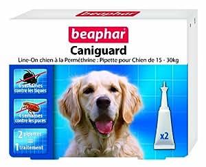 Beaphar Caniguard 2 Pipettes Contre Puces et Tiques pour Grand Chien 15/30 kg Capacité 4 ml