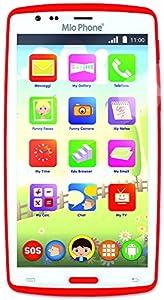 Lisciani Giochi - 55746-Mio Phone HD 5 Pulgadas Rojo (Idioma español no garantizado)