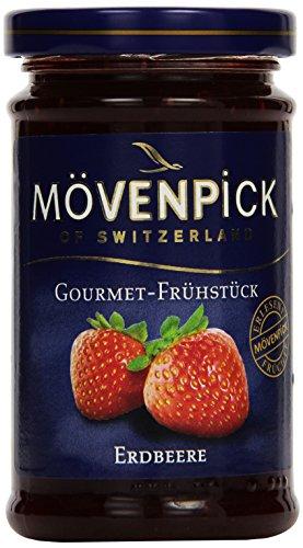 Mövenpick Gourmet-Frühstück Erdbeere, Fruchtaufstrich, 8er Pack (8 x 250 g Glas) - Gourmet-8