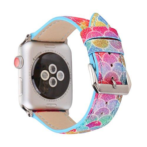Für Apple Watch Armband 42mm / 44mm, Watch Lederarmband Band Strap Armbänder Uhrenarmbänder Leder, für Damen & Herren, für iWatch Apple Watch Series 4 3 2 1, Sport, Nike+, Edition, Hermes