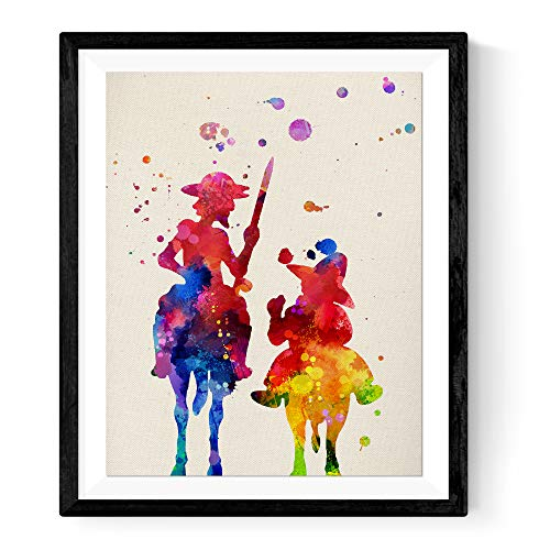 Nacnic Lámina enmarcar Don Quijote Láminas Estilo
