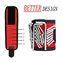Magnetic Wristband, Gifts Tool for Men Magnetic Tool Wristband with 10 Powerful Magnets, Nails, Drill Bits, Magnetic Tool Wristband, Gadgets for Men, Women,Holding Tools,Best DIY Gift