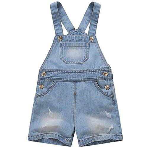 Bebé Peto con Pernera Corta - Pantalones de Peto Vaqueros Niños Niñas  Overalls Pantalón. 4b122761aef5
