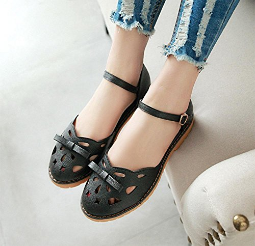 les femmes Baotou sandales dames de la mode des sandales d'été et pantoufles Black