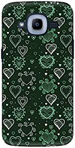 The Racoon Grip printed designer hard back mobile phone case cover for Samsung Galaxy J2 (2016). (Green Grow)