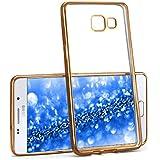 La caja del cromo para Samsung Galaxy A5 (2016) | Funda de silicona transparente con efecto metálico | Protección de celda fina bolsa de OneFlow | Backcover en Gold