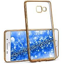 Case Chrome pour Samsung Galaxy A5 (2016)   Etui en silicone transparent avec effet métallique   Thin Sac de protection cellulaire OneFlow   Backcover en Gold