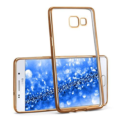 La caja del cromo para Samsung Galaxy A5 (2016) | Funda de silicona transparente con efecto metálico | Protección de celda fina bolsa de OneFlow | Backcover en