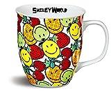 Nici 39321 Smiley-Porzellantasse Früchte, bunt