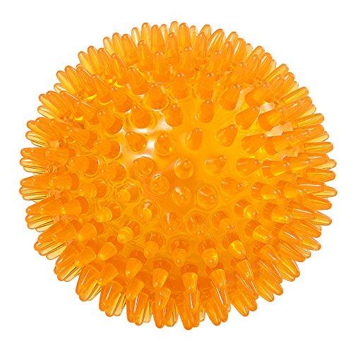 EEtoys Hundeball/Apportierball mit Quietschelement, TPR-Kunststoff (Thermoplastische Elastomere), hüpfendes, schwimmendes, zahnreinigendes Hundespielzeug, verschiedene Farben verfügbar