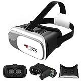 livivo® 3d VR CAJA Realidad Virtual Gafas auriculares, última Protección de los ojos de actualización 3d Video película Juego gafas con diadema ajustable cámara para iPhone Samsung Nota HTC y otros 4.0–6.0pulgadas Smartphones