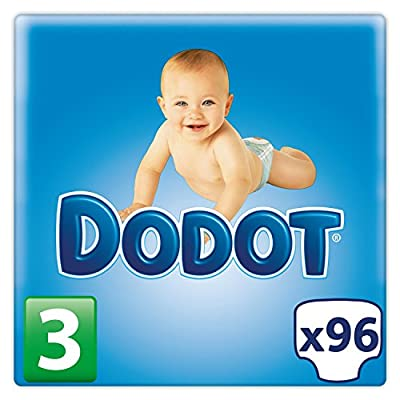 Dodot Bebé-Seco Pañales Talla 3, 96 Pañales, Con Canales de Aire