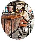chair Schmiedeeisen-Home-Bartisch, Massivholztisch, Bartisch, Kaffeetisch Und Stuhl,100 * 40 * 103,Tabelle