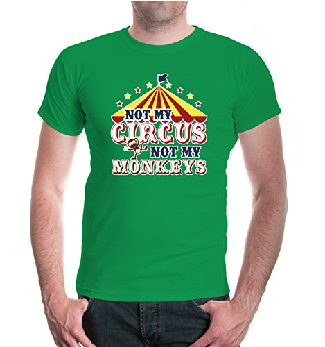 buXsbaum® T-Shirt Not my Circus, not my Monkeys Kellygreen-z-direct
