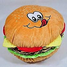 Remeehi hamburguesa manta almohadas de peluche alimentos juguete, algodón, Amarillo, 30 cm
