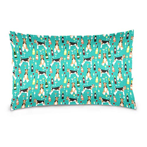 Dekokissenbezug Flamingo Wallpaper Washable Removable Pillow Cover for Home & Hotel Collection Size 20 x 30 Inch Euro Pillow Shams