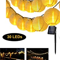 Solar Lantern String Lights Warm White Decorative Light Waterproof Night Light Party Lamp for Indoor Home BedroomOutdoor, Christmas, Garden, Patio, Halloween, Wedding (30 LEDs)