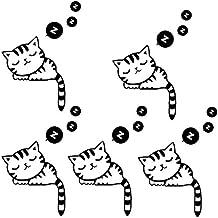 pegatinas forma 5 piezas gato linda pared interruptor de la luz desmontable de PVC para la decoración del hogar del bebé del sitio del cuarto