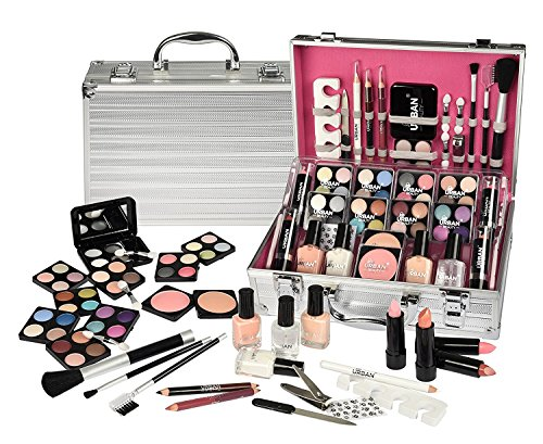 73 PIECE MAKEUP VANITY CASE COSMETIC SET MAKE UP BEAUTY STORAGE URBAN BEAUTY GIFT BOX