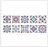 Adhesivo para Azulejos 20 X 20 cm X10 unids estilo eurasiático azulejo renovación de las etiquetas engomadas de la decoración del hogar DIY pegatinas de pared removibles a prueba de agua DIY