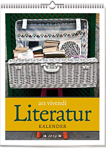 Wochenwandkalender: ars vivendi Literatur-Kalender 2019. Vierfarbig, Format 24 x 32 cm