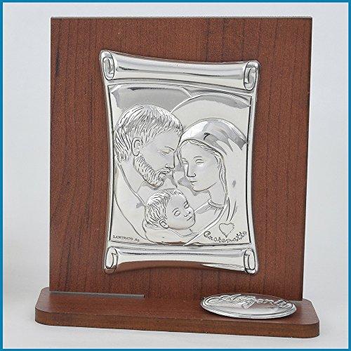 Albalù italia bomboniere icona sacra famiglia argento laminato