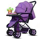 CDREAM Baby Carriage Zusammenfaltbar Kinderwagen Ab 0 Monate Bis 15 Kg Reise Buggy Mit Liegeposition Und Klappbar Baby Wagen Leicht Tragbar,Purple