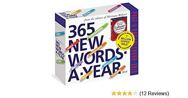 365 New Words-A-Year Page-A-Day Calendar 2018: Amazon co uk: Workman