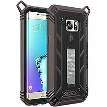 Funda Galaxy S6 Edge Plus - Poetic [Serie Revolución] [Pesada] [Doble Capa] Funda de Protección Hibrida Completa sin Protector de Pantalla Incorporado para de Samsung Galaxy S6 Edge Plus (2015) Negro/Gris Oscuro (3 Años Garantía del Fabricante Poetic)