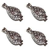 Old School Geekery 4 Pack of Ornate Teardrop Pearl Cage Pendants TM Brand Jewelry Making Supplies