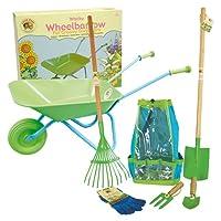 Little Pals Childrens Wheelbarrow Garden Tool Kit