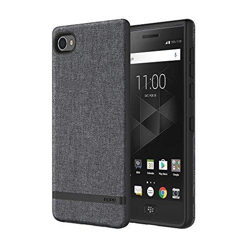 Incipio [Esquire Series] Carnaby Case für BlackBerry Motion - von BlackBerry zertifizierte Schutzhülle (grau) [Oberfläche aus Baumwolle I Robuste Hartschale I Edle Optik I Hybrid] - BB-1051-GRY