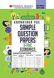 Oswaal Karnataka PUE Sample Question Papers For PUC II Economics (March 2019 Exam) Old Edition