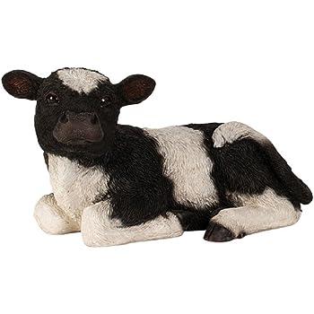 Kalb liegend 23 cm Figur Garten Tier Gartenfigur Kuh Bauernhof TOP NEU
