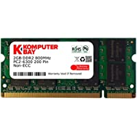 Komputerbay KB_2GBDDR2_SO800_12 - Modulo di memoria SODIMM da 2 GB, 200 pin, DDR2 800MHz PC2 6400/PC2 6300