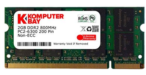 Komputerbay SODIMM Speichermodul (2GB, 200 Pin, 800MHz, PC2 6400 / PC2 6300 DDR2) -