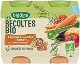 Blédina Les Récoltes Bio Légumes du Soleil Bœuf dès 6 mois 2 x 200 g