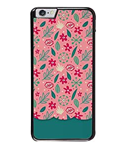 Apple iPhone 6 Plus, Apple iPhone 6+ Back Cover Abstract Floral Pattern Design From FUSON