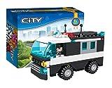 Cogo 3409Kit de blocs de construction 104pièces pour enfants, voiture de police - ceci n'est pas un produit Lego mais est compatible avec Lego et Playmobil