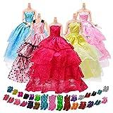 Yomon 5 Abiti Vestiti Alla Moda 20 Paia di Scarpe per Barbie Accessori Regali per bambino
