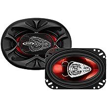Boss Audio Systems CH4630 De 3 vías 250W altavoz audio - Altavoces para coche (De 3 vías, 250 W, 250 W, Piezo, Aluminio, 100 - 18000 Hz)