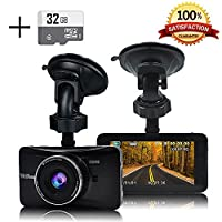 Senwow Dash Cam (With 32GB SD Card), 1080P Full HD 3.0