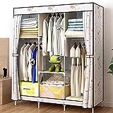 Kleiderschrank QFF Einfache Tuch-verstärkter Stahl-großer Garderoben-faltender Speicher-Kabinett (Farbe : #2)