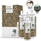 Kopfhautpflege - Set gegen Kopfschuppen, Pickel, trockene & juckende Kopfhaut | Auch zur Pflege bei Schuppenflechte & Psoriasis | Haarpflege mit Teebaumöl für alle Haartypen