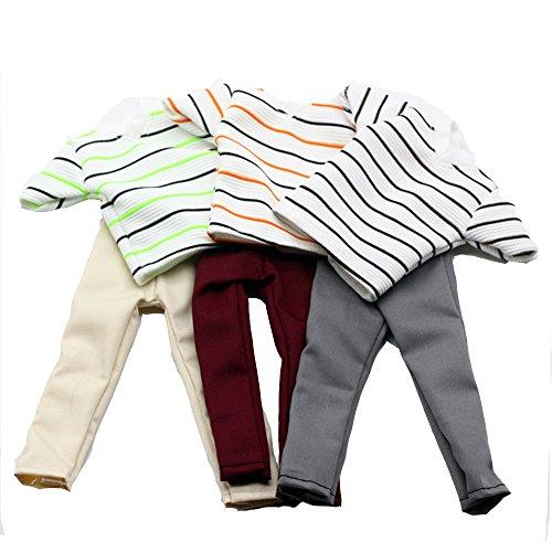 Preisvergleich Produktbild Lance Home 3 Sets Modisch handgemachte Bekleidung für Ken Puppen, inkl. 3 Kurze Hemden, 3 Jean Shorts, 3 Paar Schuhe - Zufällige Stile