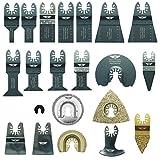 22x topstools drfak22cd Fast Fit Mix Blade Kit für Dremel Multimax Multi MM20, mm30, MM40und mm45Multitool Multi Tool Zubehör