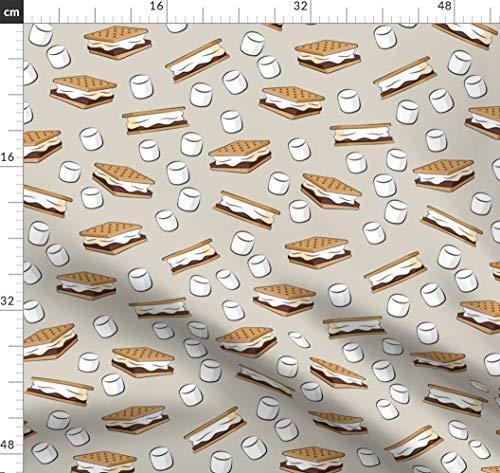 lten, Marshmallows, Modisch, Essen Stoffe - Individuell Bedruckt von Spoonflower - Design von Littlearrowdesign Gedruckt auf Bio Musselin ()